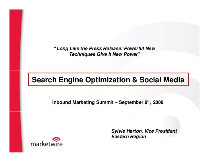 """""""Long Live the Press Release: Powerful New          g            Techniques Give It New Power""""     Search Engine Optimizat..."""