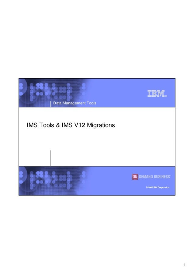 1 Data Management Tools © 2007 IBM Corporation© 2009 IBM Corporation IMS Tools & IMS V12 Migrations