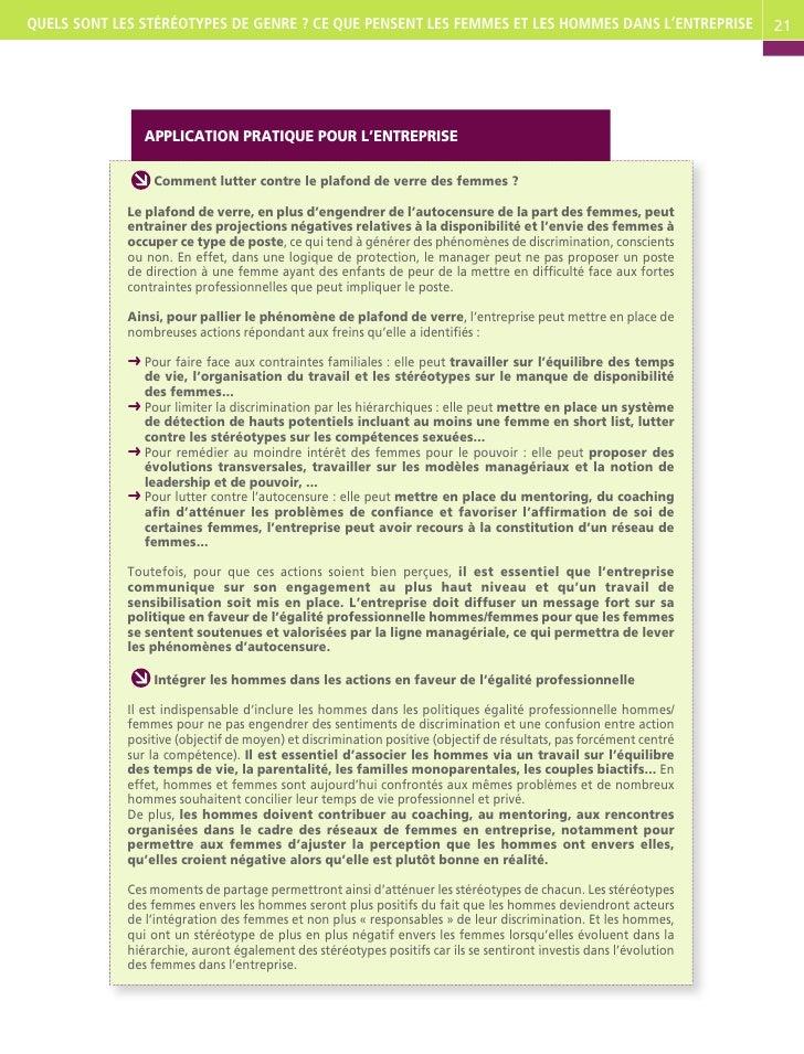 Les st r otypes sur le genre par ims - Plafond non utilise pour les revenus de 2012 ...