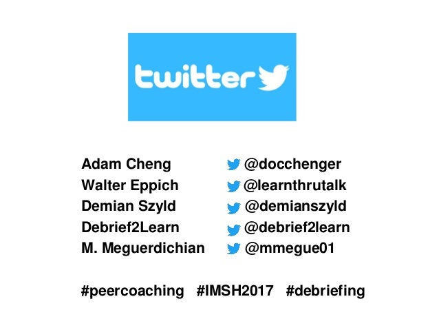 Peer coaching to improve debriefing skills for simulation-based education