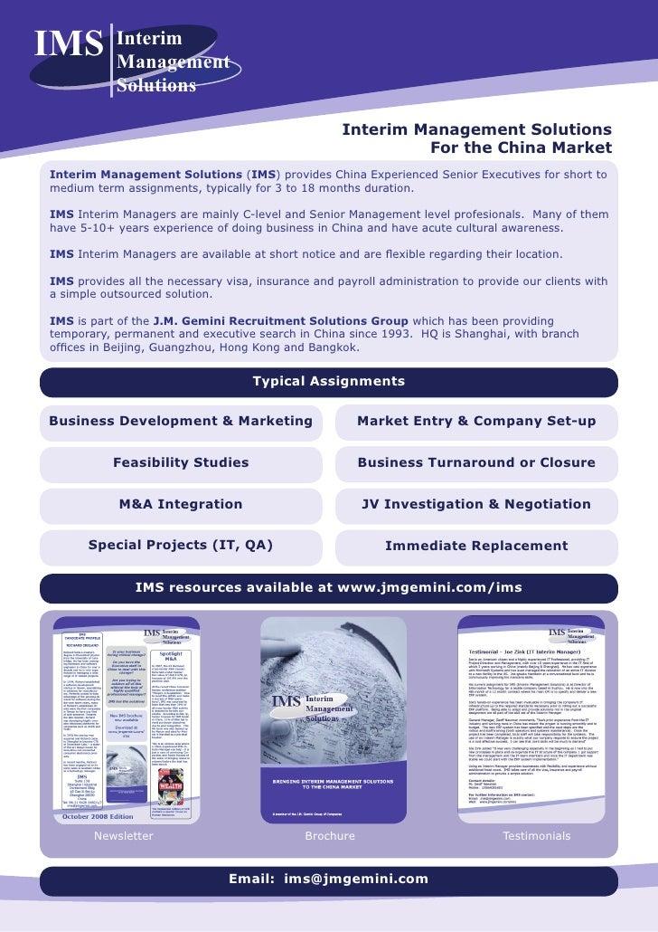 IMS         Interim             Management             Solutions                                                      Inte...