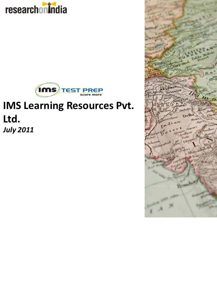 IMSLearningResourcesPvt.Ltd.July2011