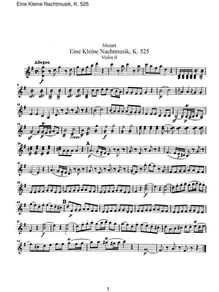 Eine Kleine Nachtmusik, K. 525                                 1