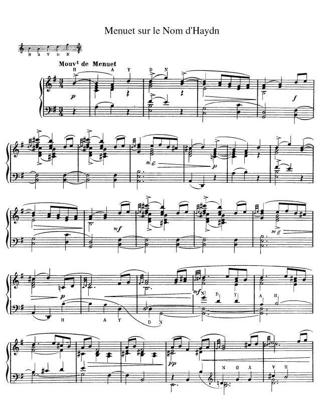 """"""" Minueto sobre el nombre Haydn"""". Ravel"""