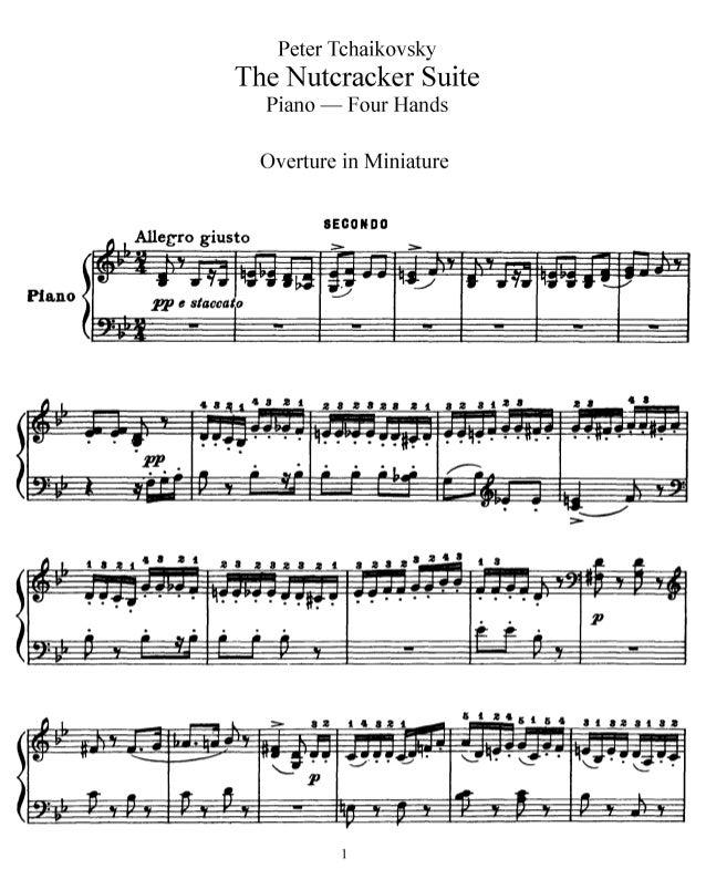 La danza de la hada de los dulces Partitura PIANO