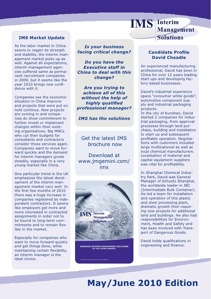IMS newsletter may 2010