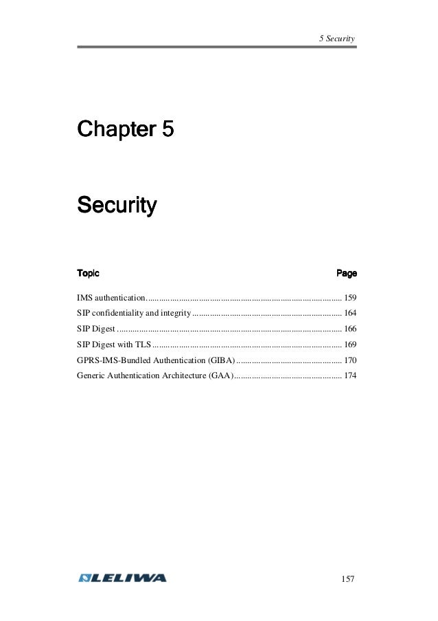 5 Security 157 ChapterChapterChapterChapter 5555 SecuritySecuritySecuritySecurity TopicTopicTopicTopic PagePagePagePage IM...