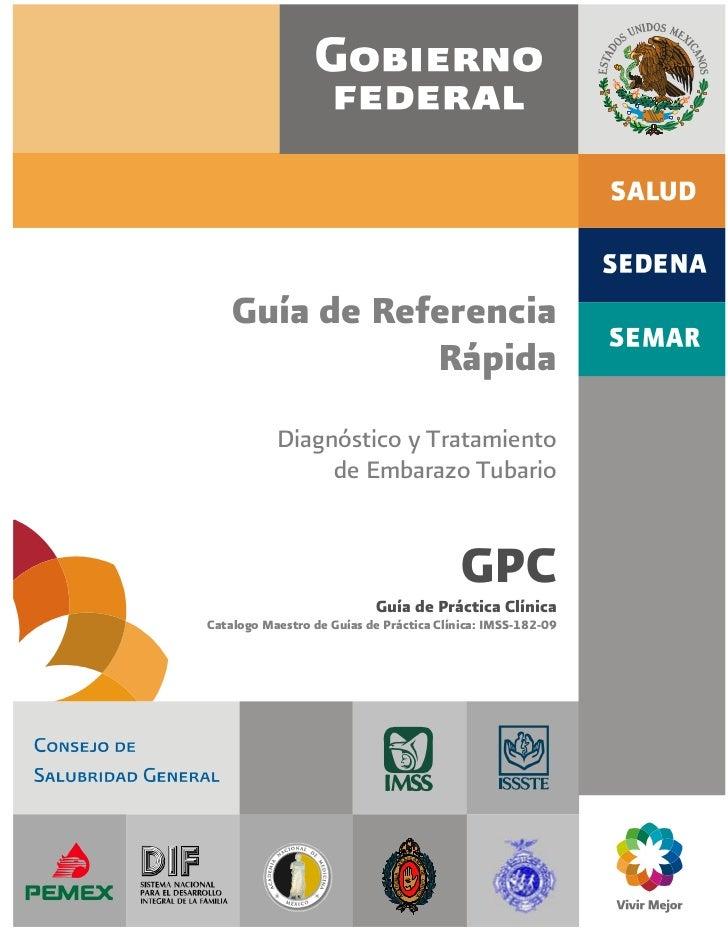 Guía de Referencia               Rápida           Diagnóstico y Tratamiento                de Embarazo Tubario            ...