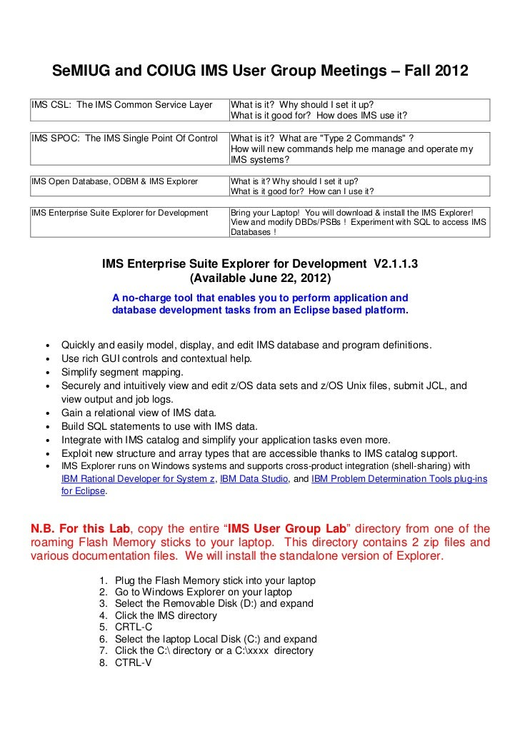 SeMIUG and COIUG IMS User Group Meetings – Fall 2012IMS CSL: The IMS Common Service Layer           What is it? Why should...