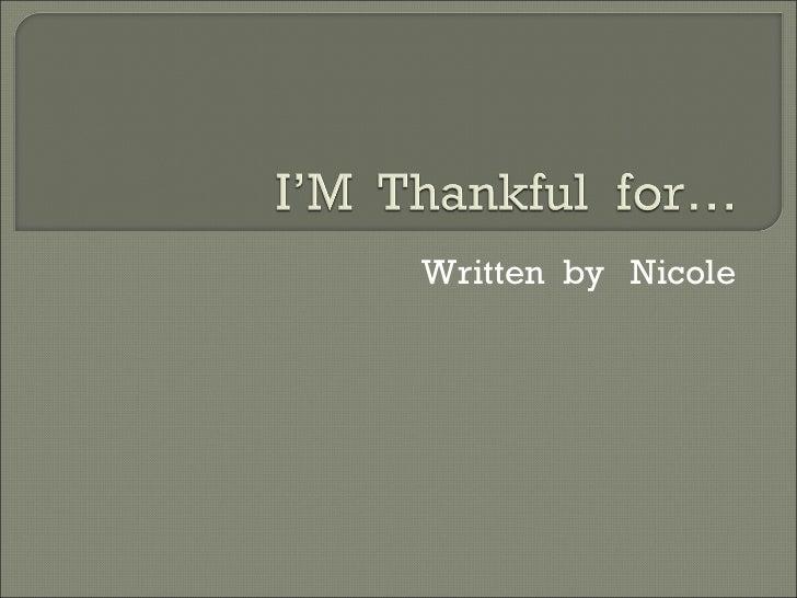 Written  by  Nicole