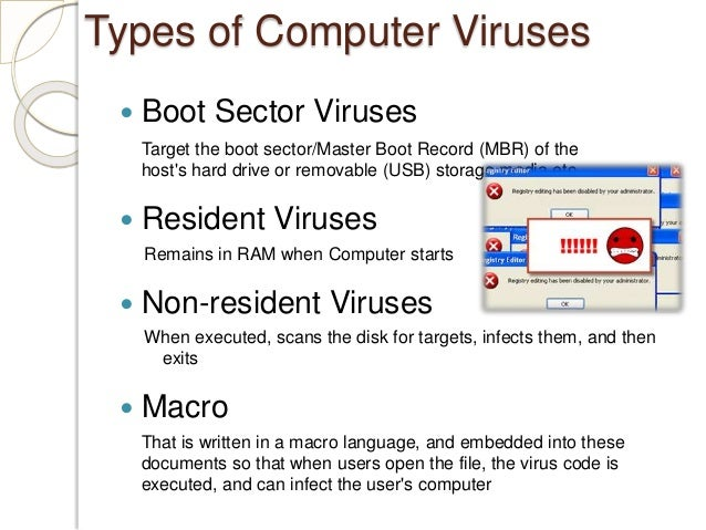 an introduction to the issue of computer viruses Unsophisticated scanners might allow a camouflage virus to sneak by as they sometimes did not display some alarms, thinking them to be false.