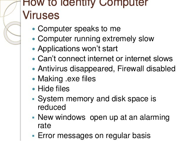 an introduction to the issue of computer viruses Read about the 5 deadliest computer viruses which haunted computer users computer viruses can be dreadful that might cause extensive it was really the introduction of the personal computer that brought computer viruses to the here are five most dangerous computer viruses of all time.