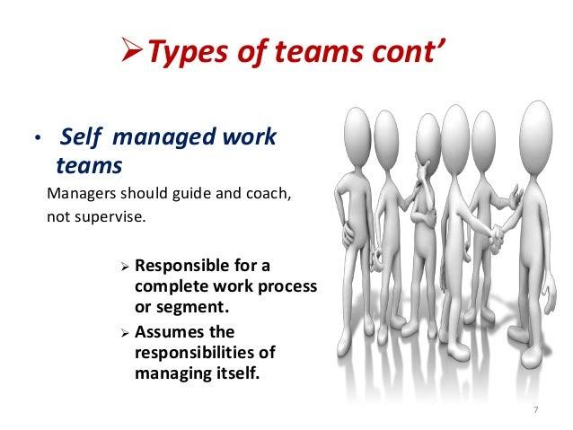 understanding the work groups and work teams