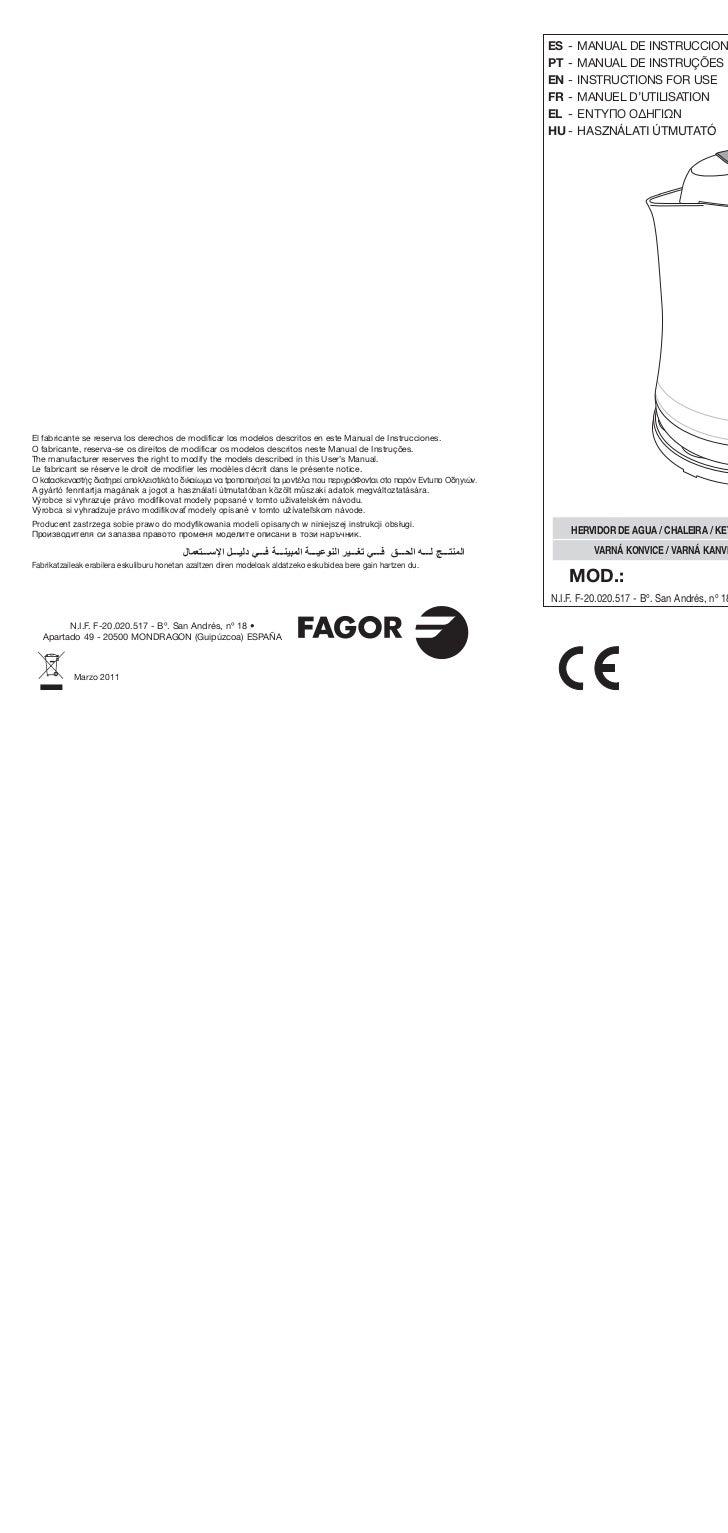 Im tk 200 web servicio tecnico fagor for Servicio tecnico fagor burgos