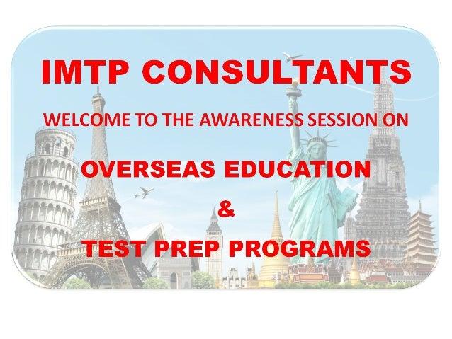 IMTPCONSULTANCYSERVICES (CHENNAI) PVT. LTD. India'sPremier OverseasEducation Consultants