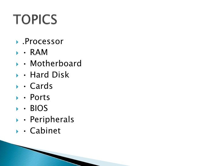 list of interesting topics for presentation english topics on  computer hardware presentation