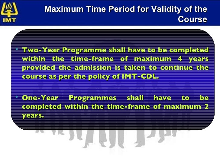 imt cdl assignments Imt - cdl offers a wide spectrum of management and information technology programmes the curriculum is constantly updated to be in touch with the dynamic.