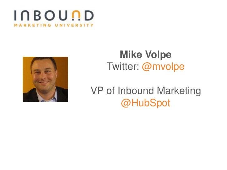 #11 IMU: Inbound Marketing Review Slide 2