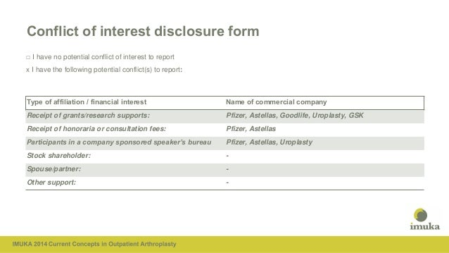 Imuka bam conflict of interest disclosure form pronofoot35fo Image collections