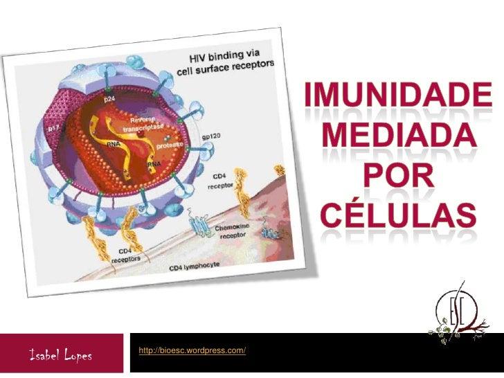 Imunidade mediada por  Células<br />http://bioesc.wordpress.com/<br />Isabel Lopes<br />