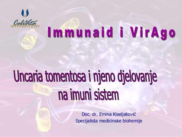 Doc. dr. Emina Kiseljaković  Specijalista medicinske biohemije