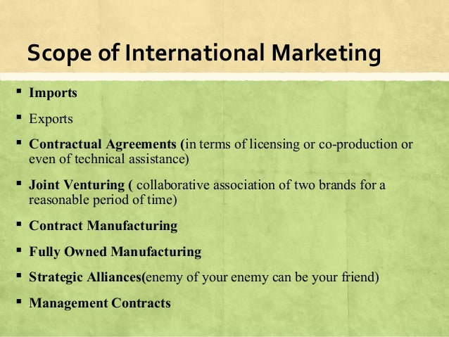 scope and significance of international marketing