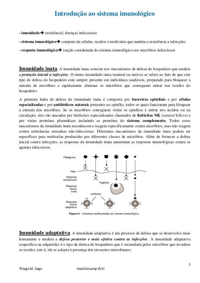 Introdução ao sistema imunológico - imunidade resistência{ doenças infecciosas - sistema imunológico conjunto de células...