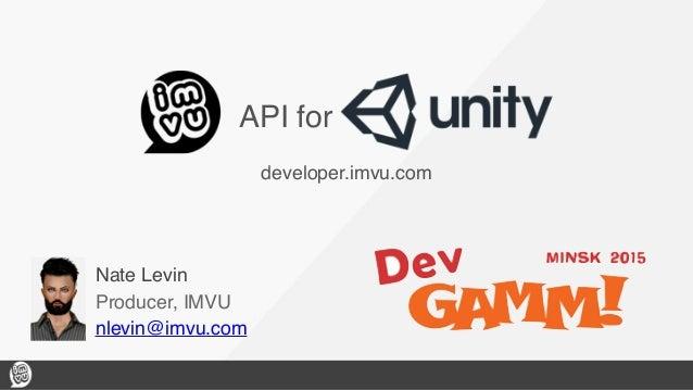 Imvu S Customizable Avatars For Unity