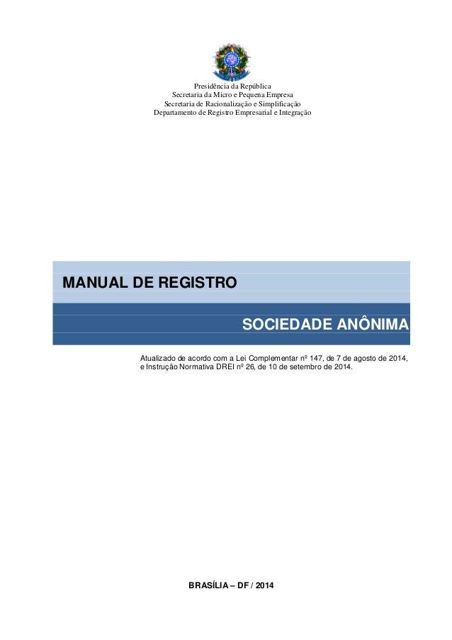 Presidência da República Secretaria da Micro e Pequena Empresa Secretaria de Racionalização e Simplificação Departamento d...