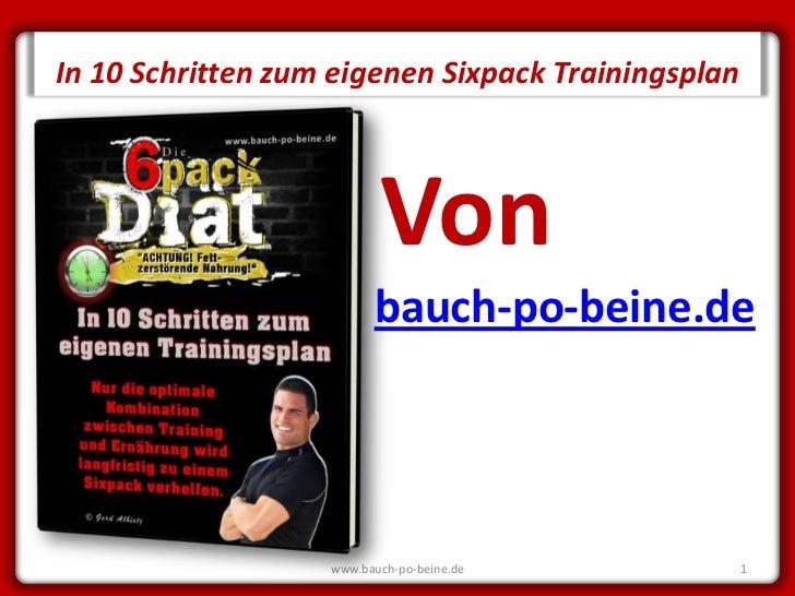 SECRET         In 10 Schritten zum eigenen Sixpack Trainingsplan                                   Von                    ...
