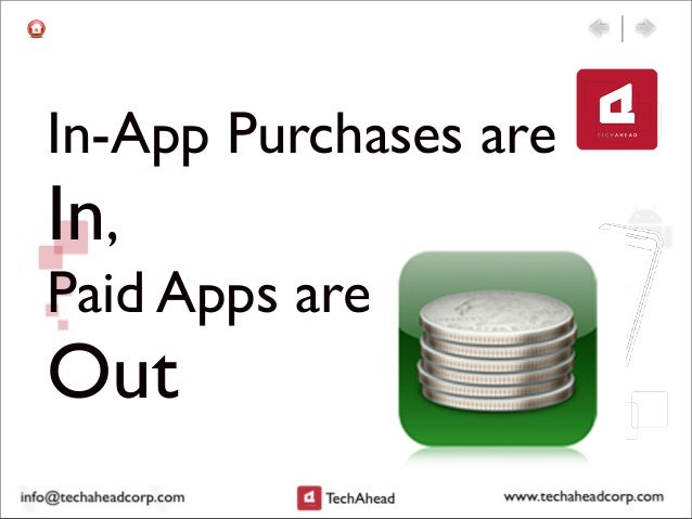 In-App Purchases are In, Paid Apps are Out