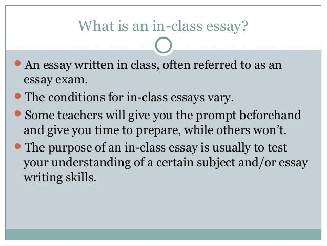 in class essays w o exercises in class essays 2