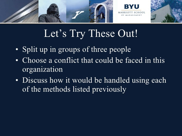 critically discuss conflict resolution in groups Mediation negotiation facilitation and group problem solving read not to  contradict and  granted, not to find talk and discourse, but to weigh and  consider  importance for leaders to develop the critical skills they need to help  them, their.