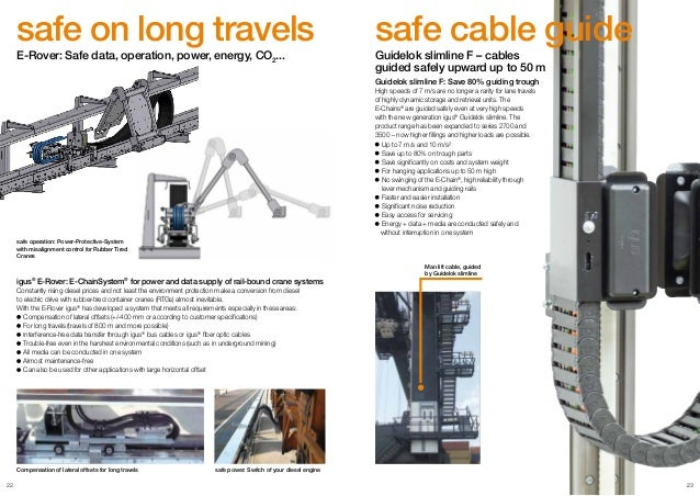 Igus E Chainsystems And Chainflex Cables For Eot Cranes