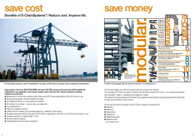 igus E-ChainSystems and Chainflex Cables for EOT Cranes