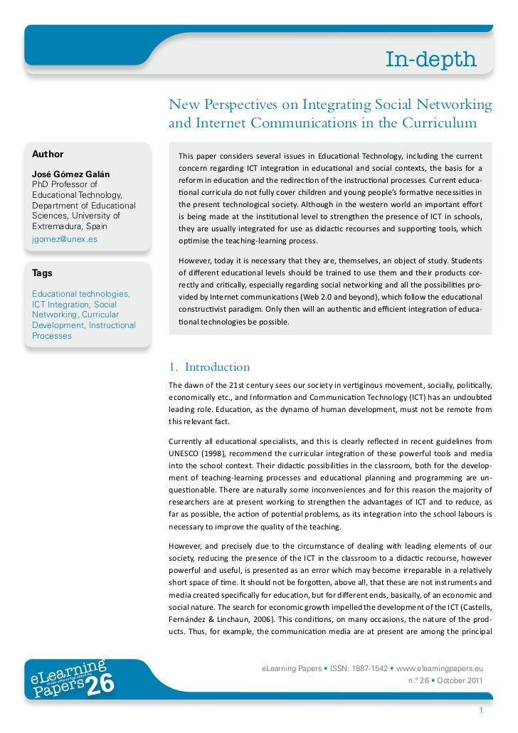 In-depth                             New Perspectives on Integrating Social Networking                             and Int...
