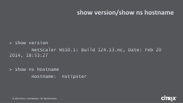 In depth troubleshooting on netscaler using command line tools distribute 10 fandeluxe Image collections