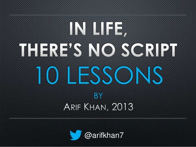 10 LESSONS BY  @arifkhan7
