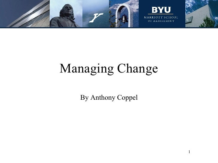 Managing Change By Anthony Coppel