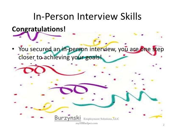 In person  interview skills Slide 2