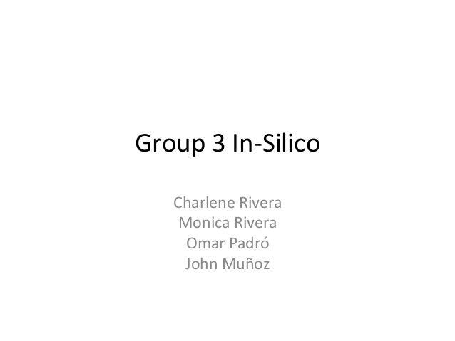 Group 3 In-SilicoCharlene RiveraMonica RiveraOmar PadróJohn Muñoz