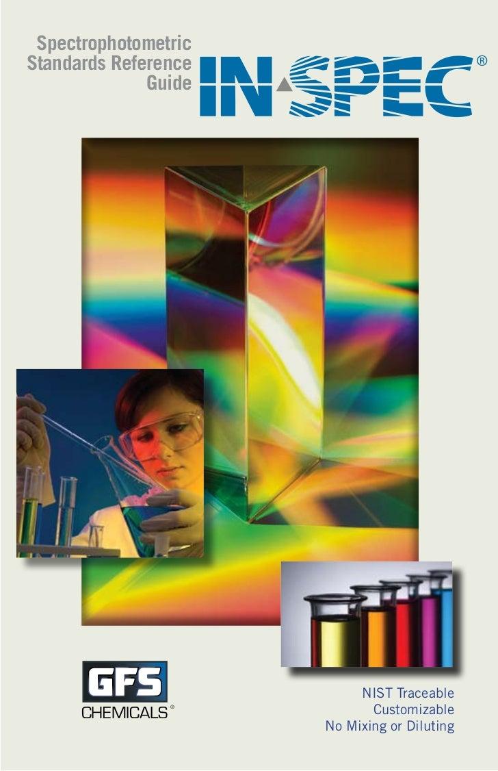 In spec catalog spectrophotometric standards 2011