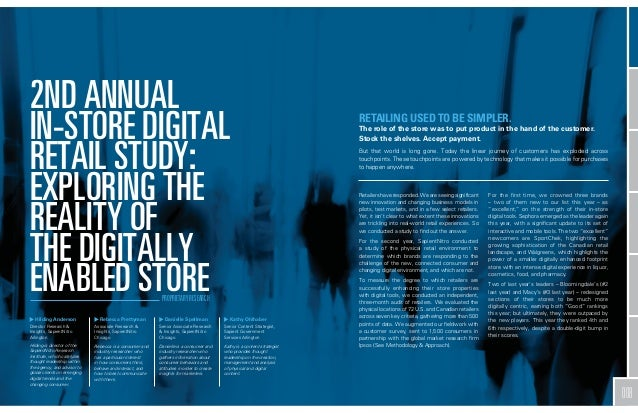 2ND ANNUAL IN-STORE DIGITAL RETAIL STUDY: EXPLORING THE REALITY OF THE DIGITALLY ENABLED STORE PROPRIETARY RESEARCH  Hildi...