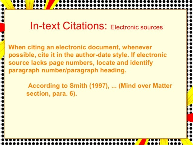in text citation mla website