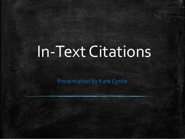 Formatting In-Text Citation in APA Format Slide 2