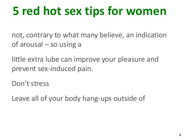 Arousal tips