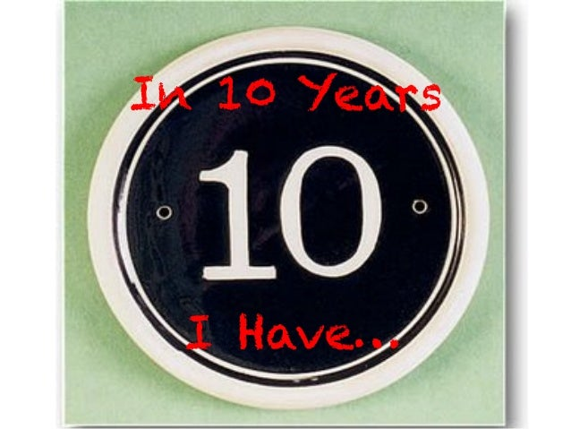 In 10 YearsI Have…