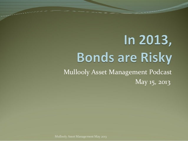 Mullooly Asset Management PodcastMay 15, 2013Mullooly Asset Management May 2013