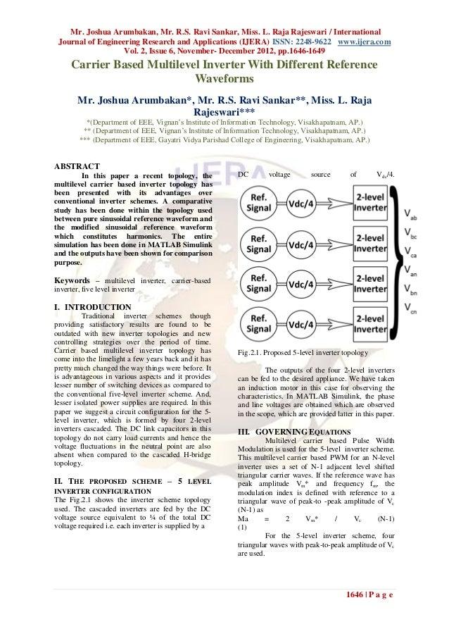 Mr. Joshua Arumbakan, Mr. R.S. Ravi Sankar, Miss. L. Raja Rajeswari / International Journal of Engineering Research and Ap...