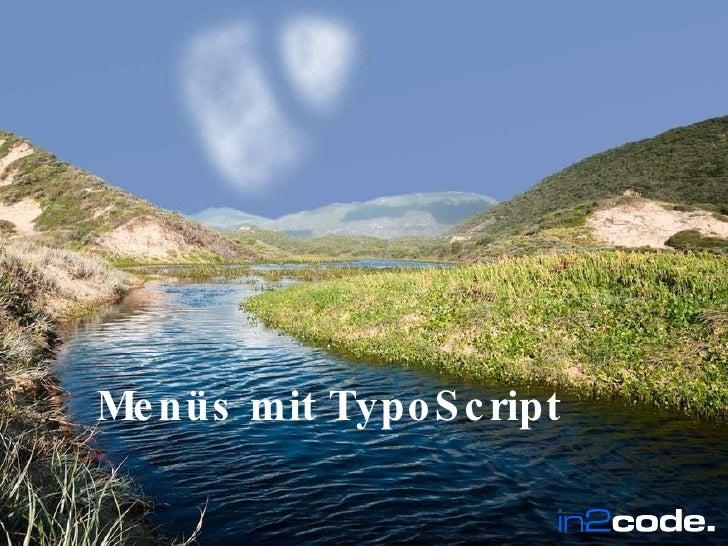 Menüs mit TypoScript